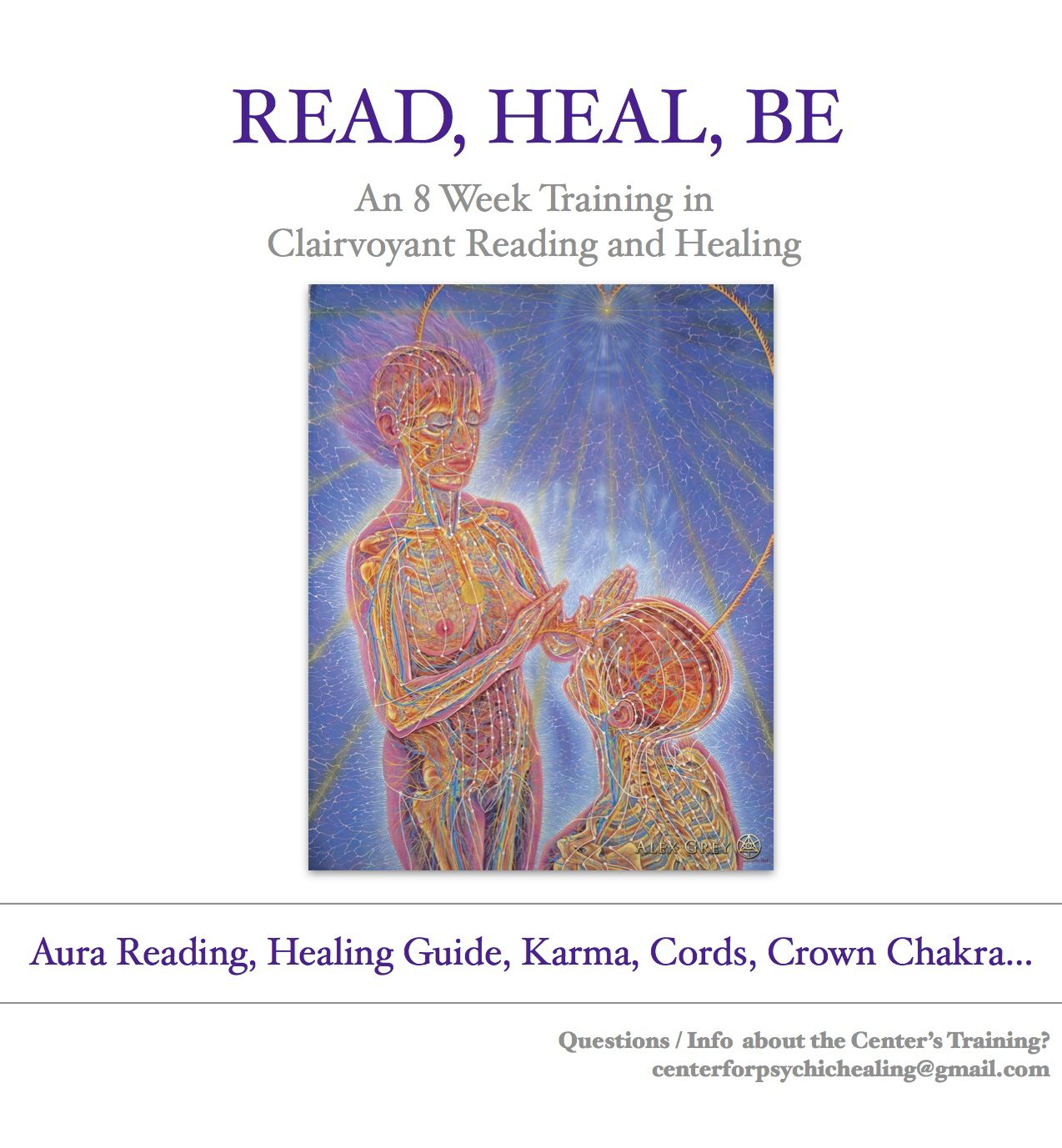 Clairvoyant Reading Training, Spiritual Training, In these classes you will learn to read auras and do healings